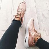 shoes,nike,rose gold,nike shoes