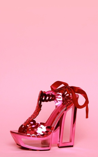 shoes prettylittlething pink naja cut out heels pretty little thing high heels