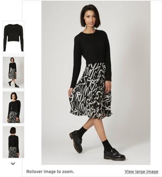 skirt midi skirt black white typography topshop cute minimalist modern