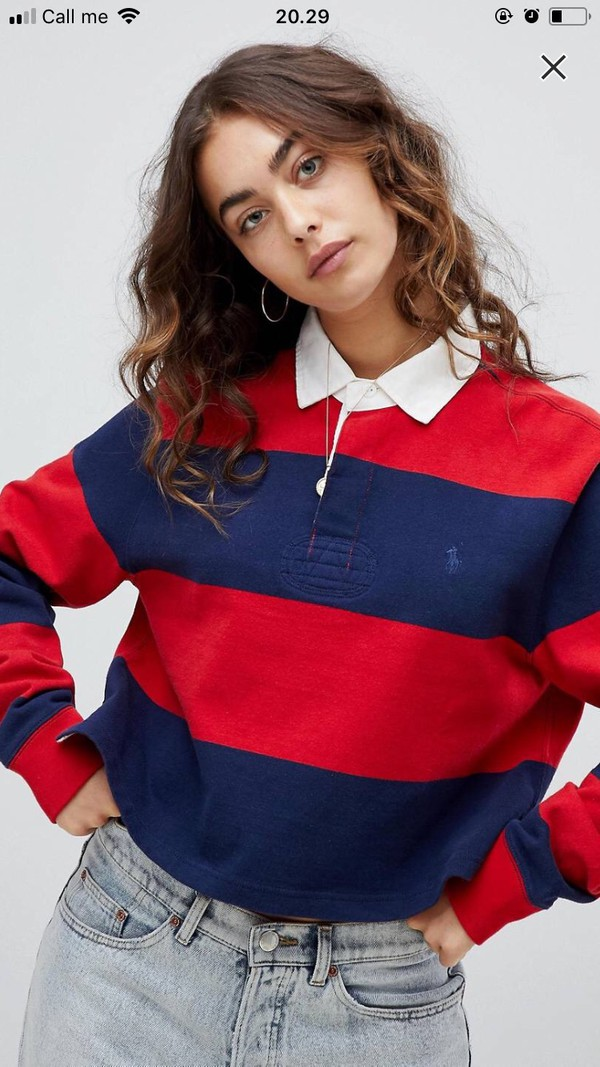 shirt stripes comfy oversized soft cute sweater polo sweater