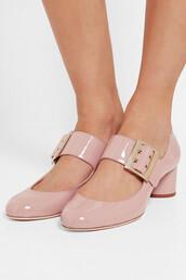 shoes,lanvin,cute high heels,medium heels,pink heels,mary jane,leather sandals