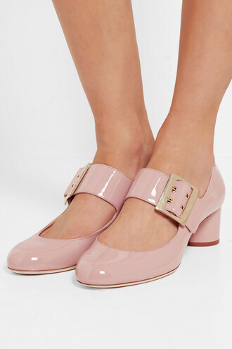shoes lanvin cute high heels medium heels pink heels mary jane leather sandals