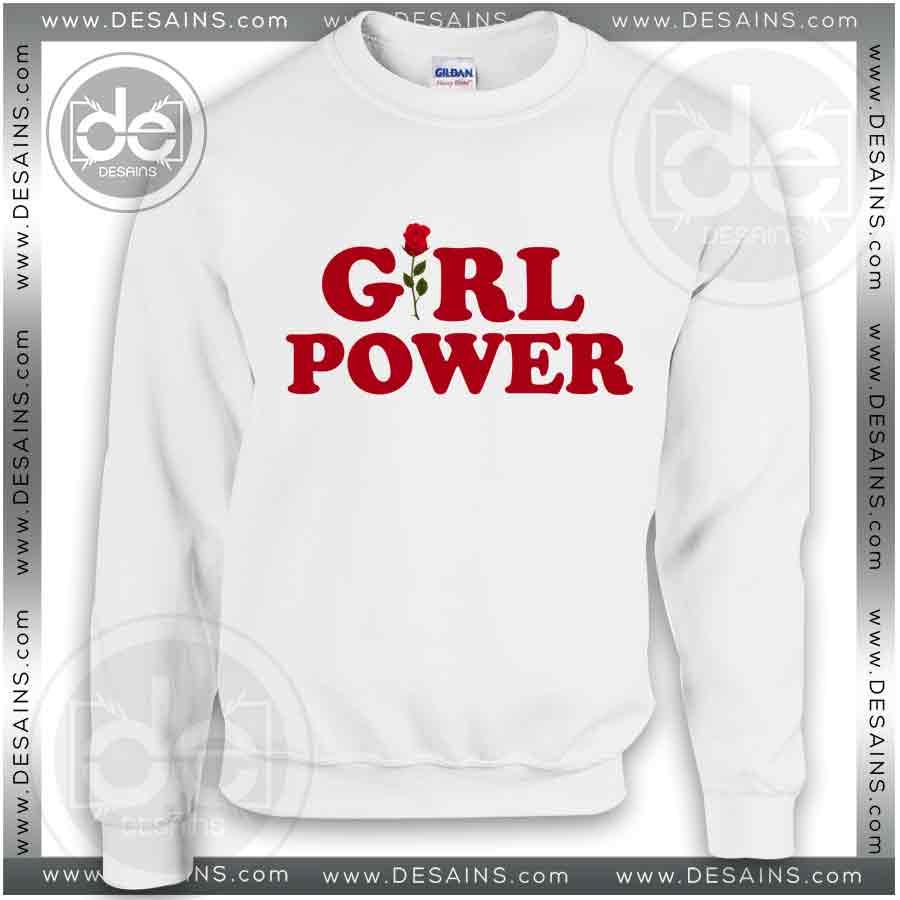 Buy Sweatshirts Girl Power Rose Sweater Hooded