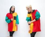 jacket,90s style,colorblock,multicolor,windbreaker