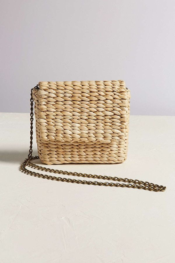 bag mini bag raffia crossbody bag straw bag raffia bag chain bag
