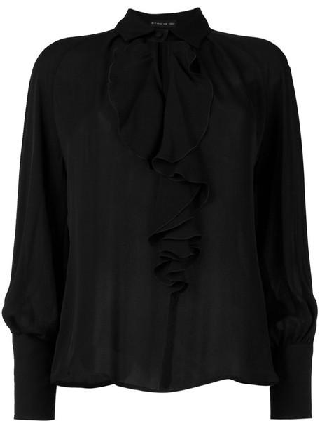 ETRO blouse women cotton black silk top