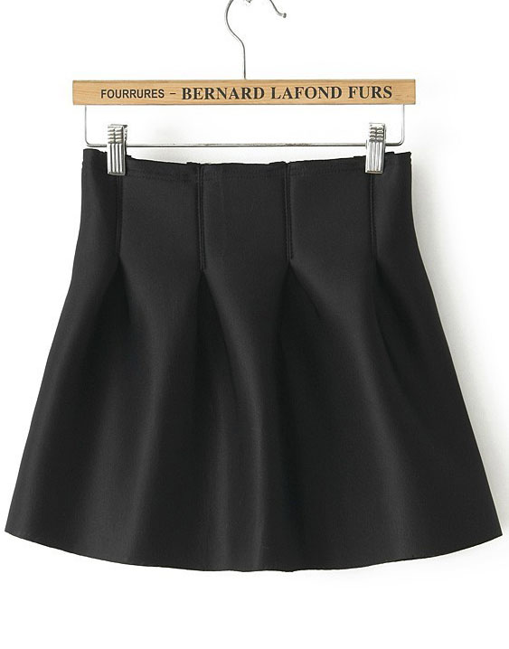 Black Flare Tiered Skirt - Sheinside.com
