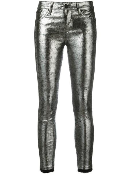 Rta metallic skinny jeans