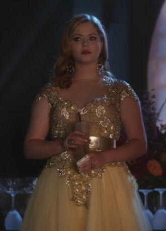 dress yellow gown pretty little liars sasha pieterse alison dilaurentis