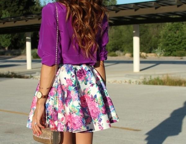 Vince Camuto 'Corsage Floral' A-Line Skirt | Nordstrom