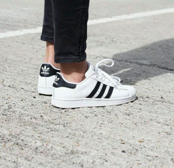 US 80s adidas Vintage Superstar White adidas Deluxe Shoes 40Pnwq