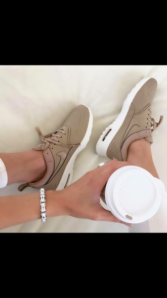 shoes air max thea premium belge  taille 37 nike nude athletic running shoes