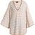 Oversized cotton-blend knit kaftan