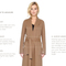 Soia & kyo - samia-sp double face wool coat with cascade collar in blush for women by soia & kyo