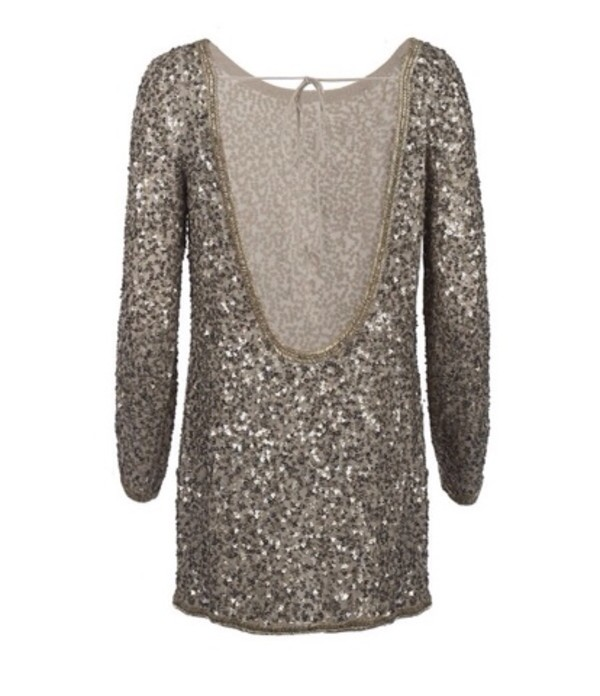 All Saints Sequin Embellished Dress
