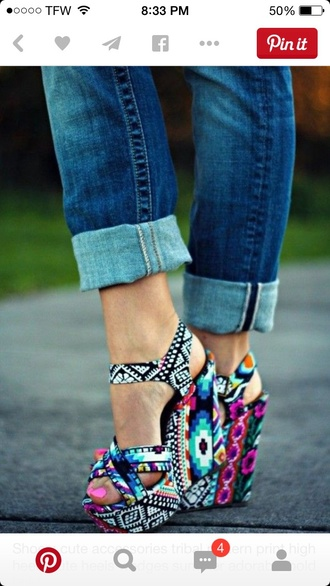 shoes tribal shoes wedge sandals