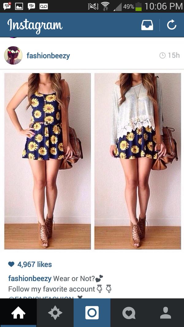floral dress sunflower dress dress