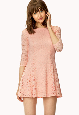 Everlasting Love Lace Dress | FOREVER21 - 2000126392