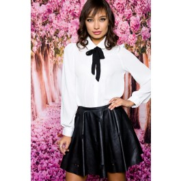 Bow tie white blouse