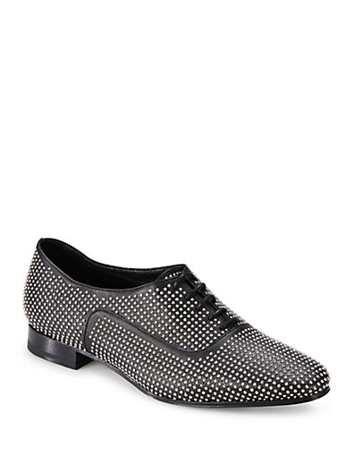 Saint Laurent - Blake Studded Leather Lace-Up Oxfords - Saks.com
