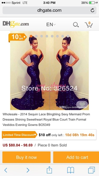 dress royal blue dress sequin dress