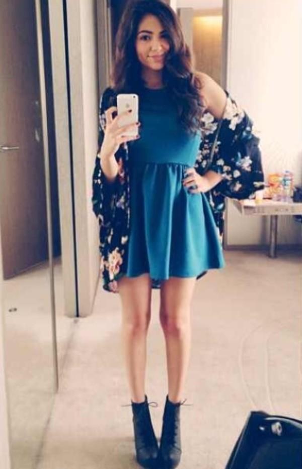 jacket kimono floral kimono kimono jacket kimono bethany mota macbarbie07 dress