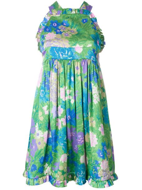 Balenciaga dress women baby silk green