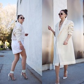 jacket,shirt,shoes,ivory,long