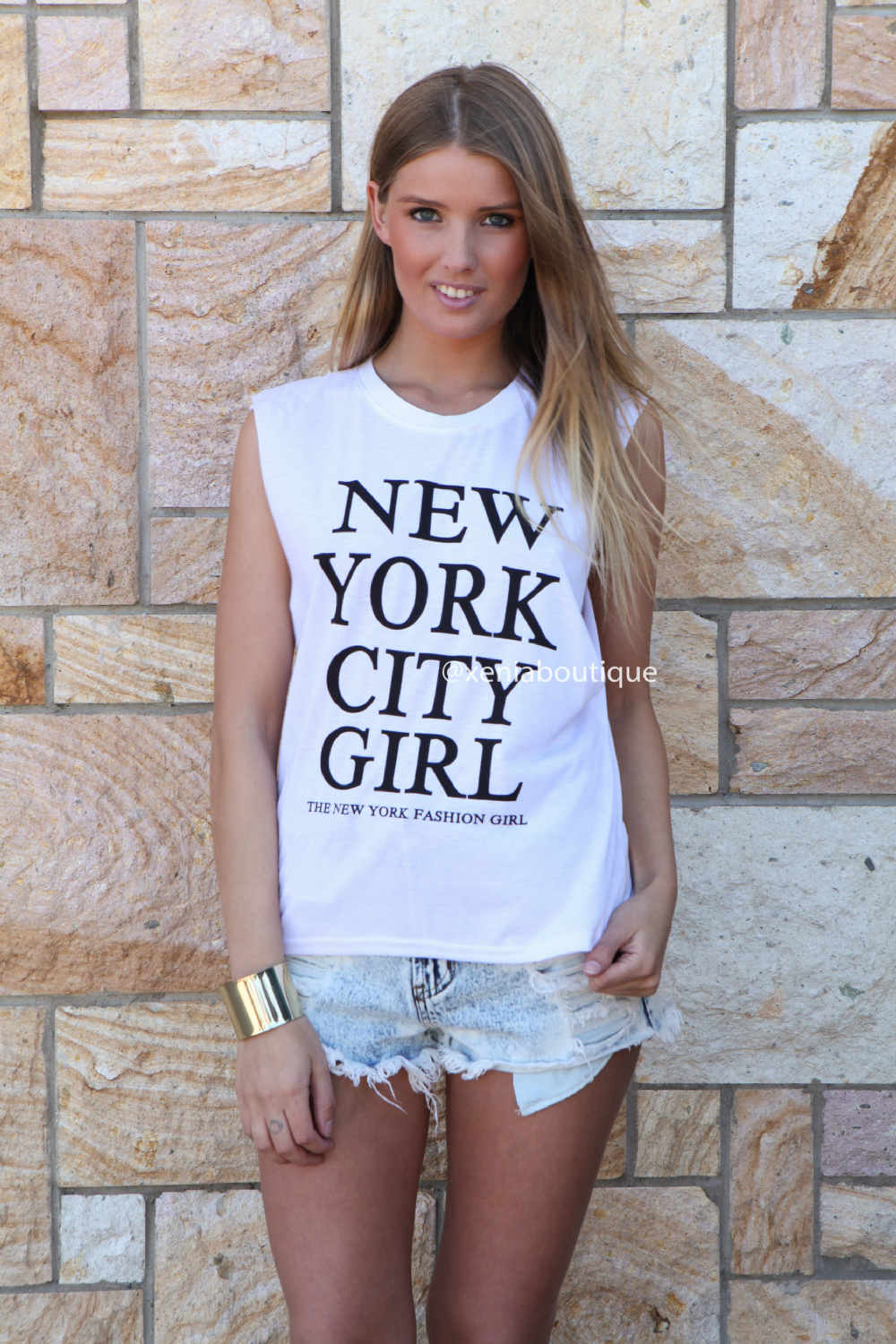 NEW YORK CITY GIRL TEE , DRESSES, TOPS, BOTTOMS, JACKETS & JUMPERS, ACCESSORIES, SALE, PRE ORDER, NEW ARRIVALS, PLAYSUIT, COLOUR, GIFT VOUCHER,,White,Print Australia, Queensland, Brisbane