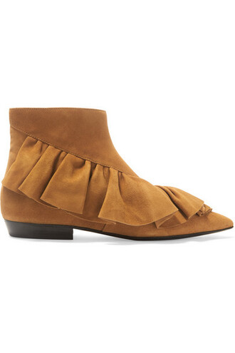 suede ankle boots tan boots ankle boots suede shoes