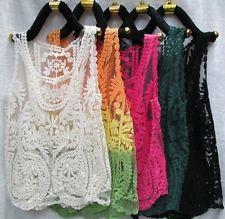 Lace Floral Sleeveless Crochet Knit Vintage Women Vest Tank TOP Shirt Blouse | eBay