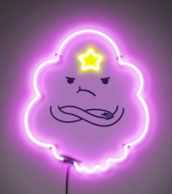 Home Accessory Lights Adventure Time Lumpy Space Princess Lsp Neon Light Kids Room Purple