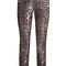 Madame skinny-leg jacquard and leather trousers