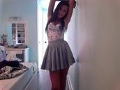 dress,skirt,floral,shirt,strapless dress,blue skirt,tube top,tank top,skater skirt,floral dress