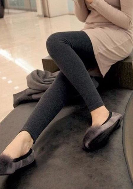 Match knit thicken leggings online