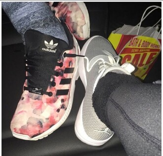 shoes grey jordan's adidas floral women's sneakers tennis shoes