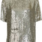 P.a.r.o.s.h. - gughi sequined top - women - viscose - l, grey, viscose