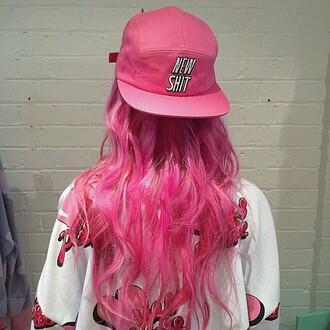 hat snapback girly baseball cap pink hat pink snapback pink cap