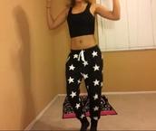 stars,sweatpants,black,joggers pants