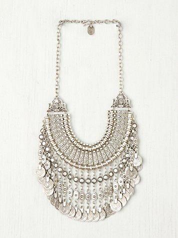 Silver Coin Necklace Turkish Antalya Coin Collar by ShopSparrow