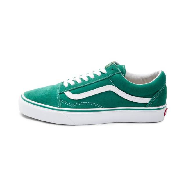 vans old skool green suede