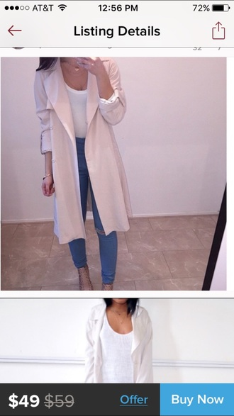 coat h&m forever 21 pink nude perfecto trendy