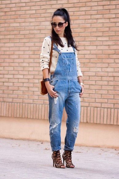 denim distressed jeans sweater dangaree butterfly jumper fashion shoes sandals streetfashion sunglasses shoulderbag Choies
