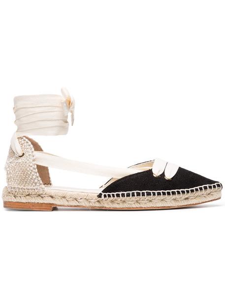 CASTAÑER women espadrilles leather cotton black shoes