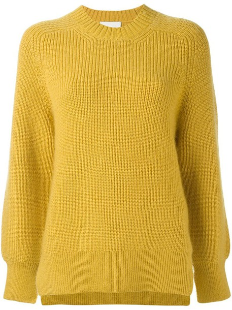 3.1 Phillip Lim jumper women spandex mohair wool yellow orange sweater