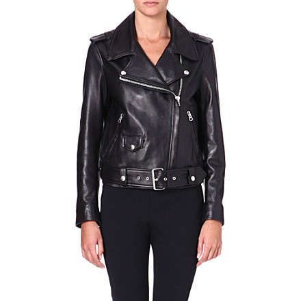 ACNE - Mape leather biker jacket | Selfridges.com