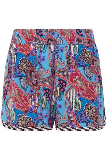 ETRO shorts blue silk