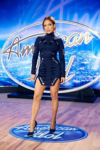 dress jennifer lopez pumps turtleneck dress navy navy dress shoes bodycon dress long sleeve dress