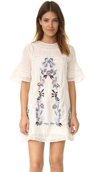 dress mini dress mini embroidered victorian cream
