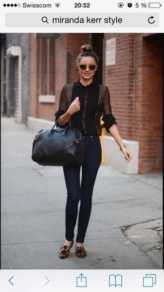 blouse black miranda kerr model